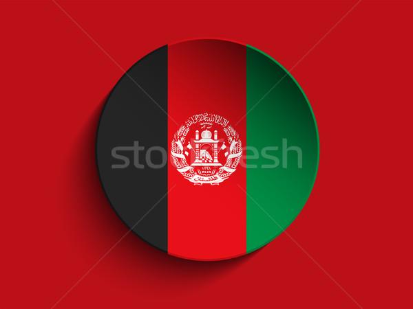 Afeganistão bandeira papel círculo sombra botão Foto stock © gubh83