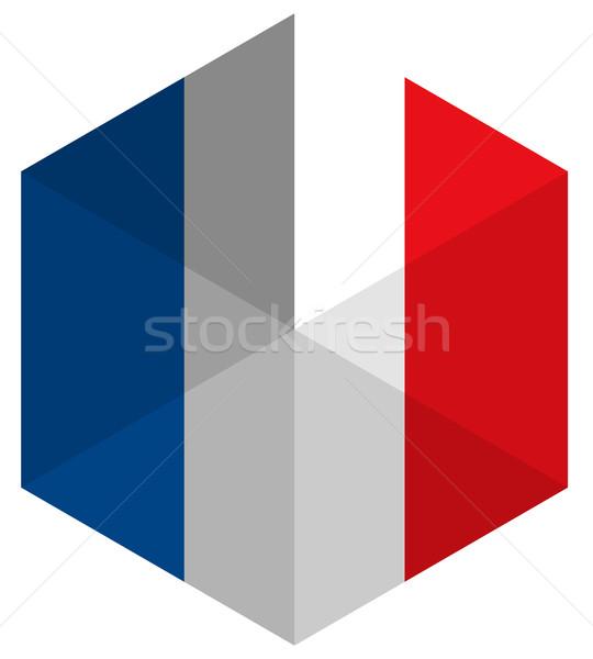 フランス フラグ 六角形 アイコン ボタン 世界 ストックフォト © gubh83