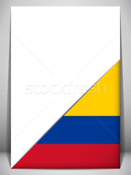 Kolombiya ülke bayrak sayfa imzalamak seyahat Stok fotoğraf © gubh83