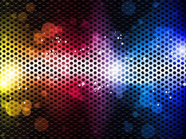 Színes szivárvány neon buli vektor absztrakt Stock fotó © gubh83