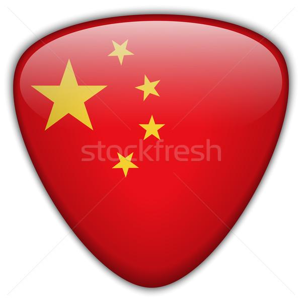 China Flag Glossy Button Stock photo © gubh83