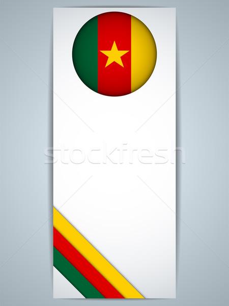Kamerun kraju zestaw banery wektora streszczenie Zdjęcia stock © gubh83