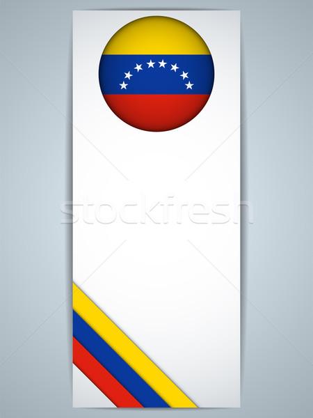 Venezuela vidék szett bannerek vektor absztrakt Stock fotó © gubh83