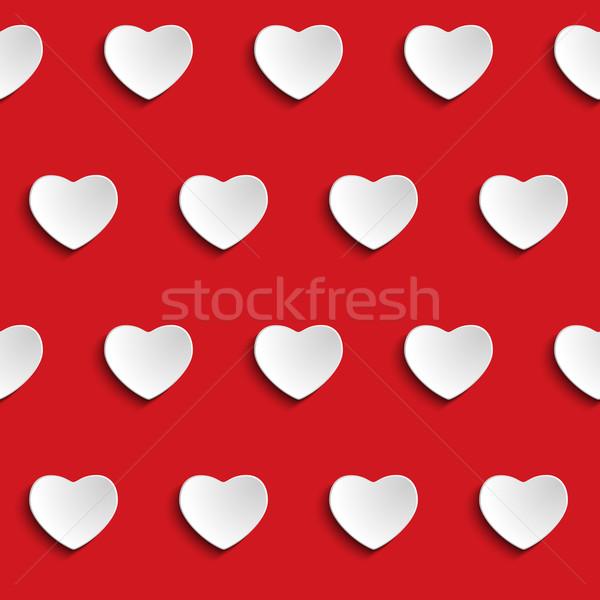 Valentine Day Heart Seamless Pattern Background Stock photo © gubh83