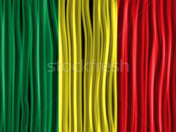 Stock photo: Mali Flag Wave Fabric Texture Background