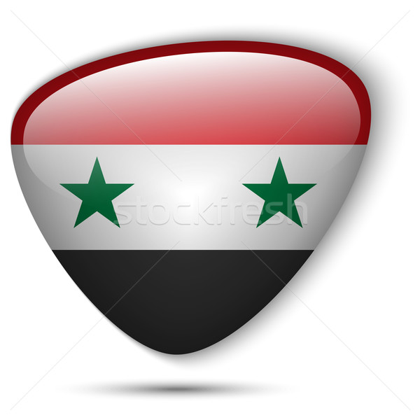 Síria bandeira botão vetor vidro Foto stock © gubh83