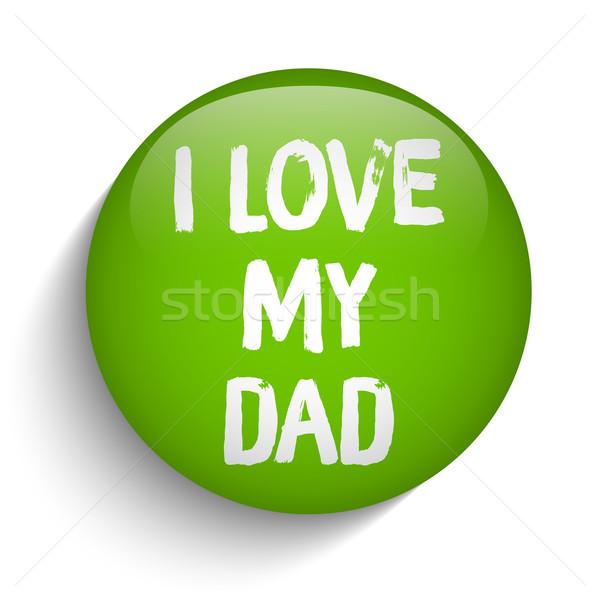 Día de padres feliz verde icono botón vector diseno Foto stock © gubh83