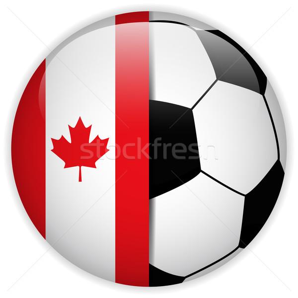 Kanada zászló futballabda vektor világ futball Stock fotó © gubh83