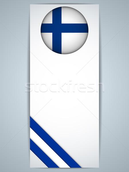 Финляндия стране набор Баннеры вектора дизайна Сток-фото © gubh83