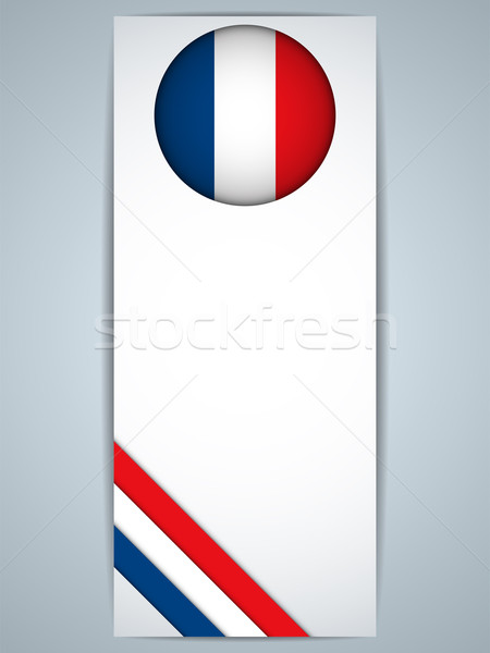 Fransa ülke ayarlamak afişler vektör soyut Stok fotoğraf © gubh83