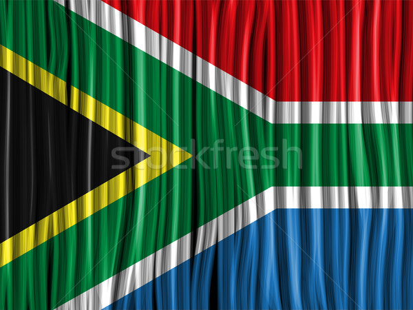 South Africa Flag Wave Fabric Texture Background Stock photo © gubh83
