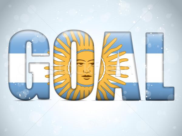 Аргентина цель Футбол 2014 письма флаг Сток-фото © gubh83