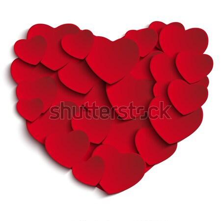 Valentijn dag hart witte vector bruiloft Stockfoto © gubh83