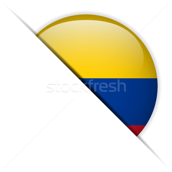 Colômbia bandeira botão vetor vidro Foto stock © gubh83