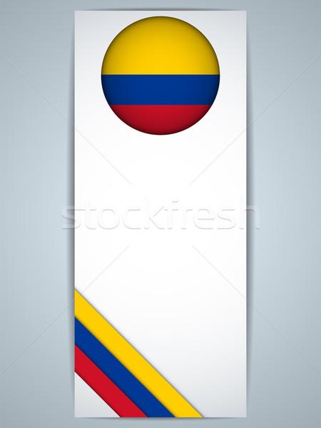 Колумбия стране набор Баннеры вектора аннотация Сток-фото © gubh83