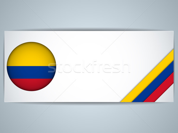 Colombia land ingesteld banners vector business Stockfoto © gubh83