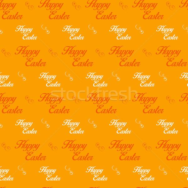 Iyi paskalyalar mektup turuncu vektör bahar Stok fotoğraf © gubh83