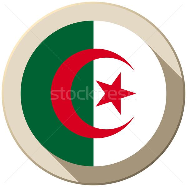 Algérie pavillon bouton icône modernes vecteur Photo stock © gubh83