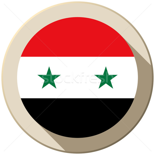 Syrie pavillon bouton icône modernes vecteur Photo stock © gubh83