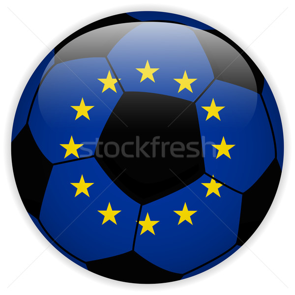 Europa vlag voetbal vector wereld voetbal Stockfoto © gubh83