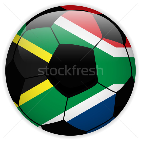 South Africa vlag voetbal vector wereld voetbal Stockfoto © gubh83