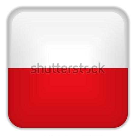 Polen vlag smartphone toepassing vierkante knoppen Stockfoto © gubh83