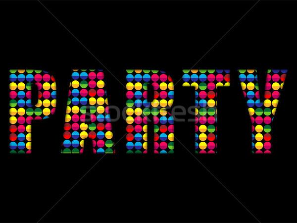ストックフォト: パーティ · 文字 · 音楽 · ディスコ · カラフル · アルファベット