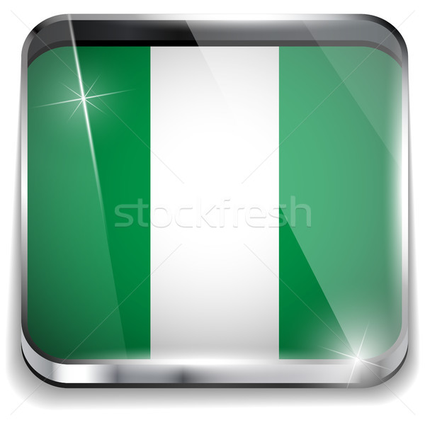 Nigéria bandeira aplicação praça botões Foto stock © gubh83