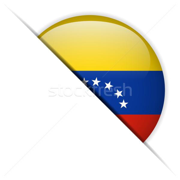 Venezuela Flag Glossy Button Stock photo © gubh83