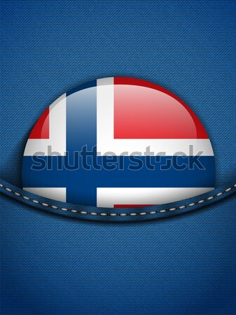 Finland Flag Button in Jeans Pocket Stock photo © gubh83