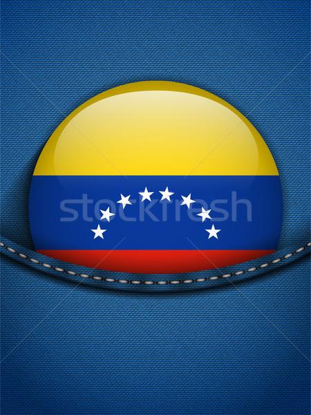 Venezuela Flag Button in Jeans Pocket Stock photo © gubh83