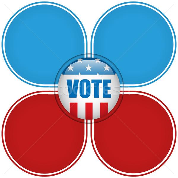 Egyesült Államok választás szavazás gomb vektor kék Stock fotó © gubh83