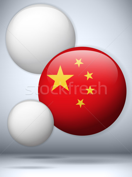 China Flag Glossy Button Stock photo © gubh83