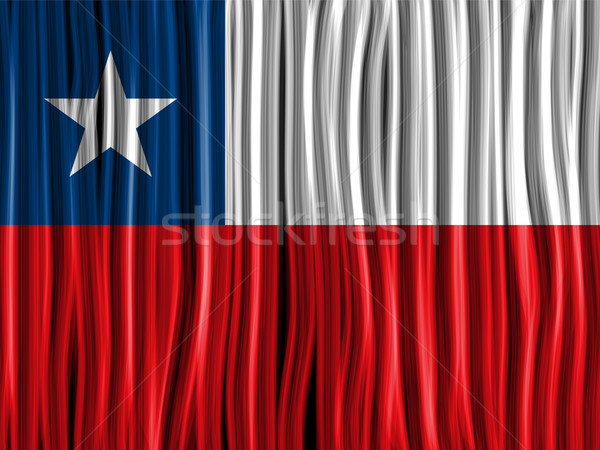 Chile Flag Wave Fabric Texture Background Stock photo © gubh83