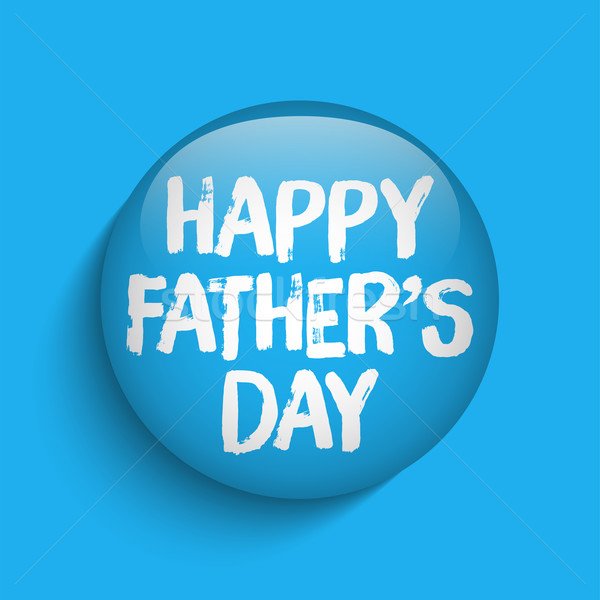 Happy Fathers Day Blue Icon Button Stock photo © gubh83