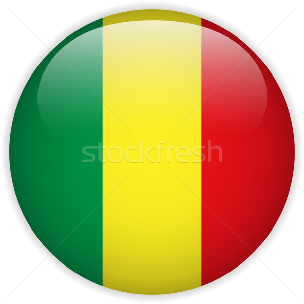 Mali Flag Glossy Button Stock photo © gubh83