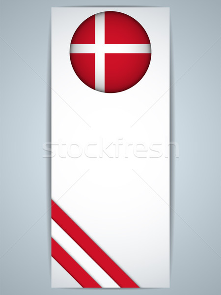 Dánia vidék szett bannerek vektor absztrakt Stock fotó © gubh83