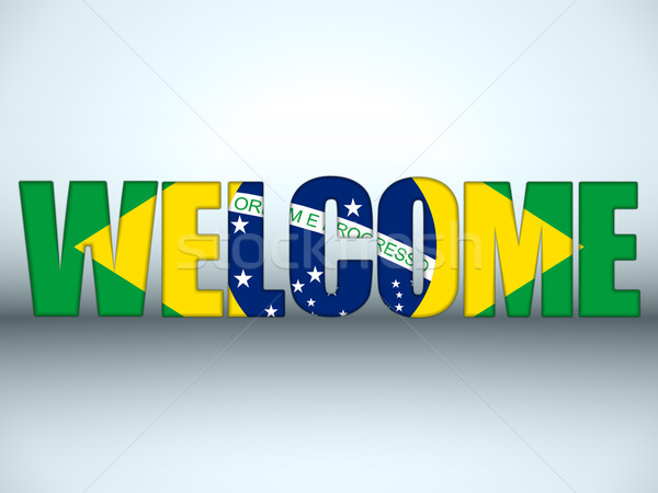 Brazil Flag Welcome Soccer Letters Background Stock photo © gubh83