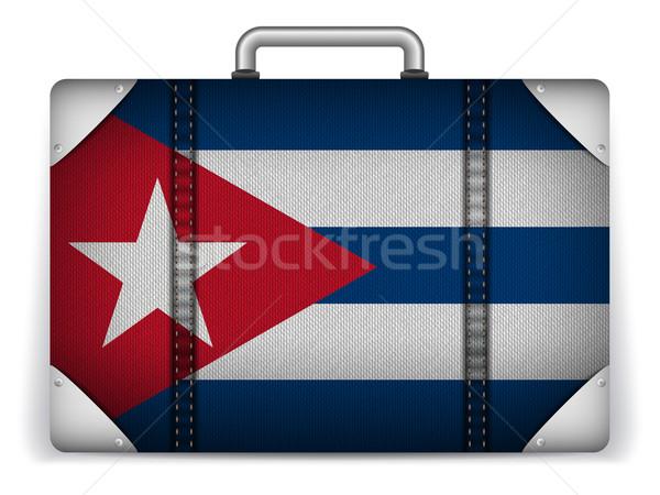 Küba seyahat bagaj bayrak tatil vektör Stok fotoğraf © gubh83