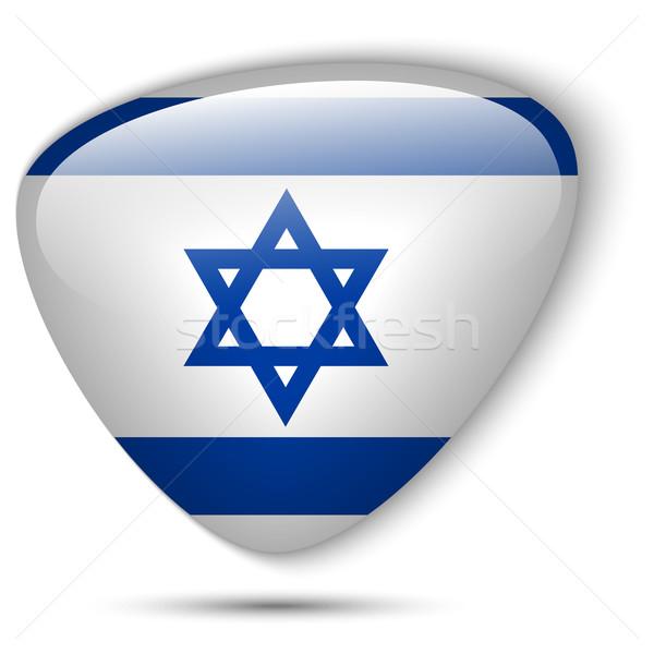Израиль флаг кнопки вектора стекла Сток-фото © gubh83