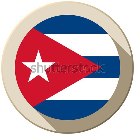 Cuba bandera botón icono moderna vector Foto stock © gubh83