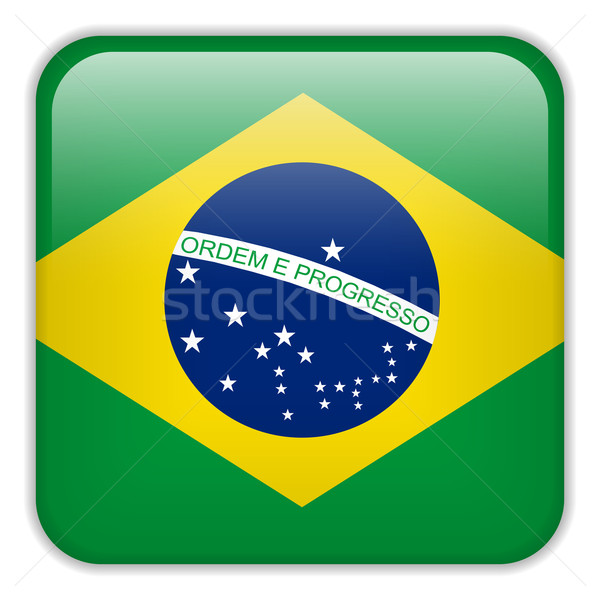 Brésil pavillon smartphone demande carré boutons Photo stock © gubh83