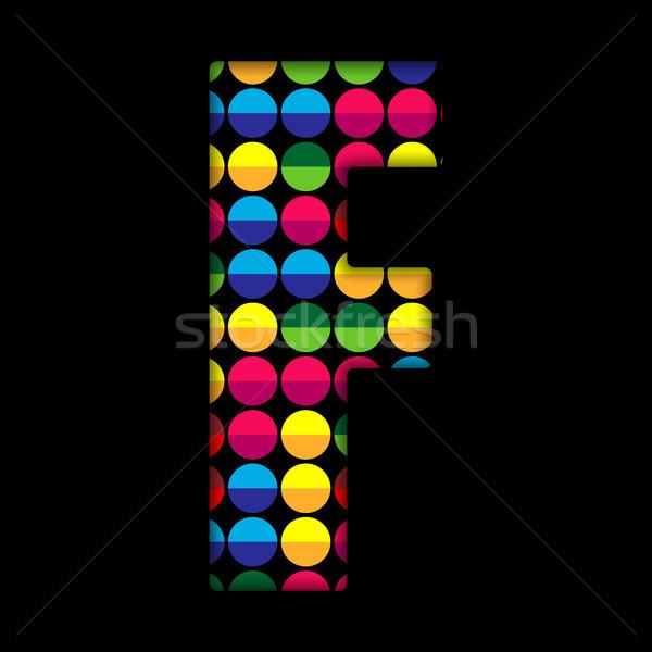 Foto stock: Alfabeto · cor · preto · vetor · abstrato · fundo