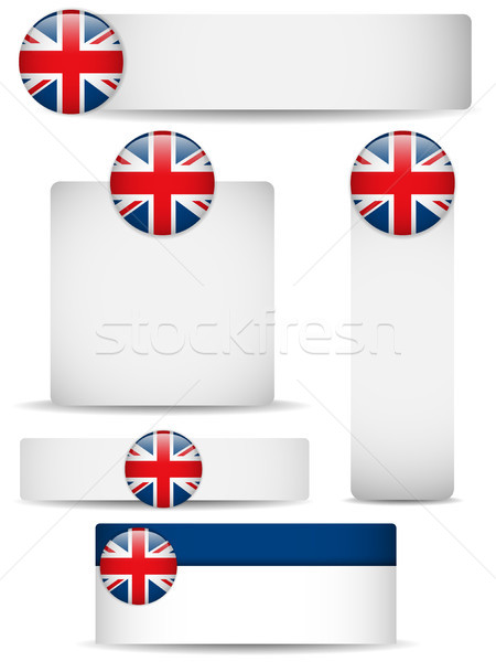 United Kingdom Country Set of Banners Stock photo © gubh83