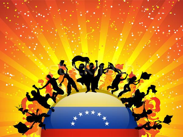 Venezuela Sport Fan Crowd with Flag Stock photo © gubh83