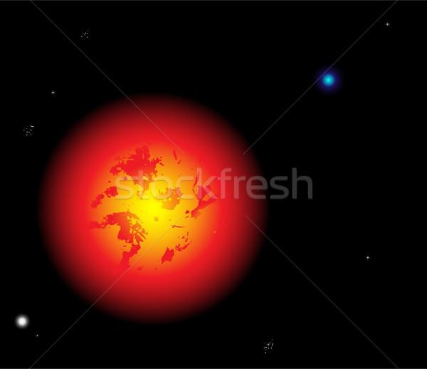 Słońce przestrzeni piękna wektora planet gwiazdki Zdjęcia stock © gubh83