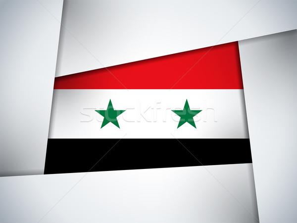 Syrië land vlag meetkundig vector business Stockfoto © gubh83
