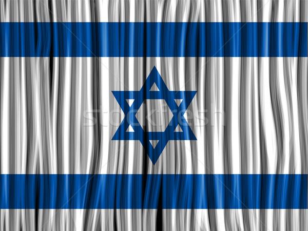 Израиль флаг волна ткань текстуры вектора Сток-фото © gubh83