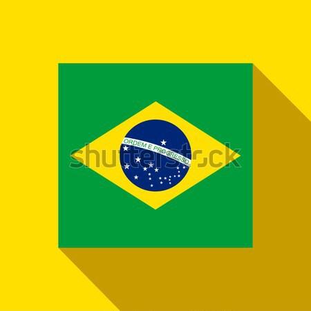 Brasile 2014 icona bandiera vettore sport Foto d'archivio © gubh83