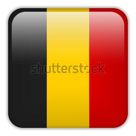 Belçika bayrak uygulama kare düğmeler Stok fotoğraf © gubh83